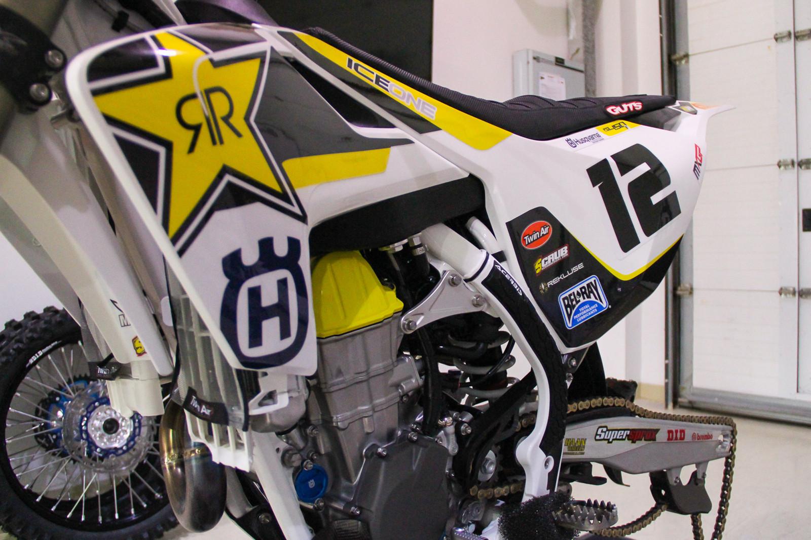 Max Nagl's Rockstar Energy Husqvarna FC 450 - Vital MX Pit Bits: 2017 MXGP of Qatar - Motocross Pictures - Vital MX