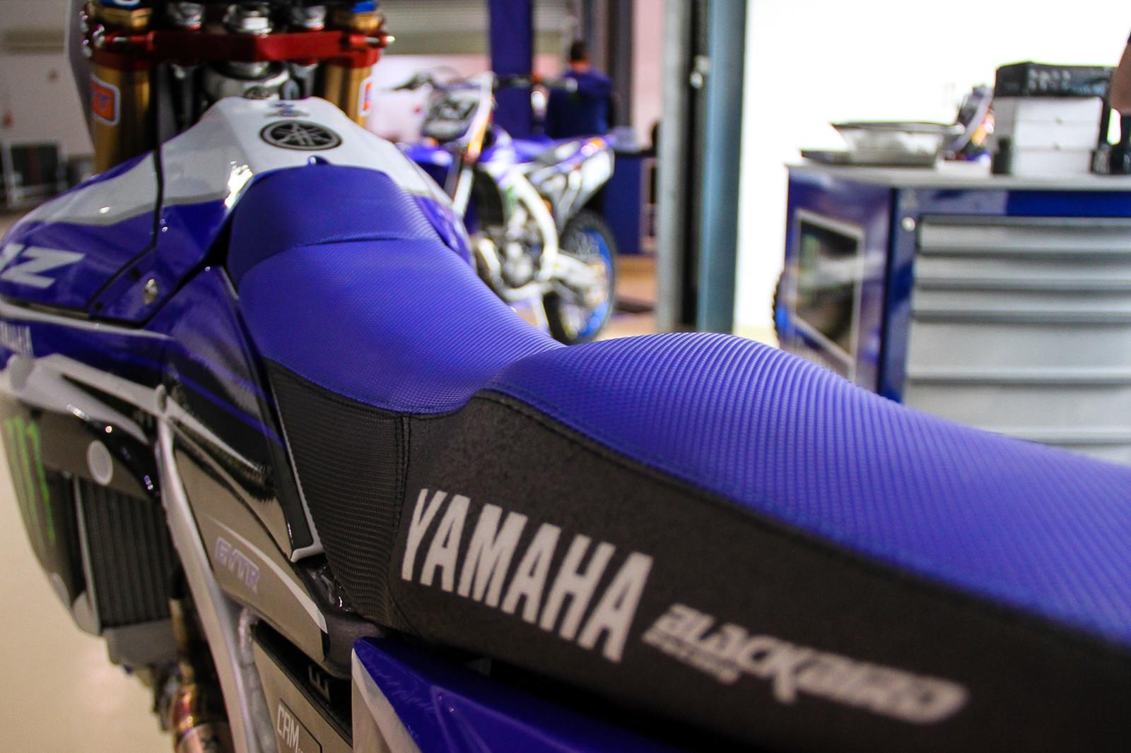 Jeremy Van Horebeek's Seat Bump - Vital MX Pit Bits: 2017 MXGP of Qatar - Motocross Pictures - Vital MX