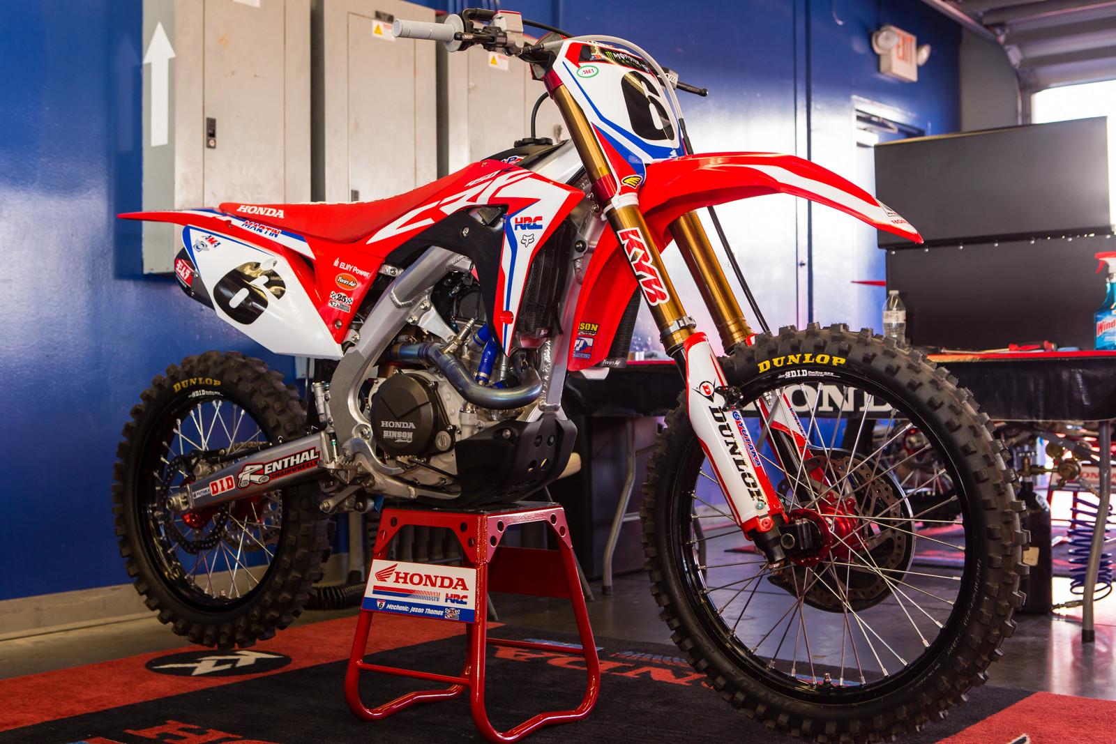 Jeremy Martin's HRC Honda CRF450R - Vital MX Pit Bits: Daytona Supercross - Motocross Pictures - Vital MX