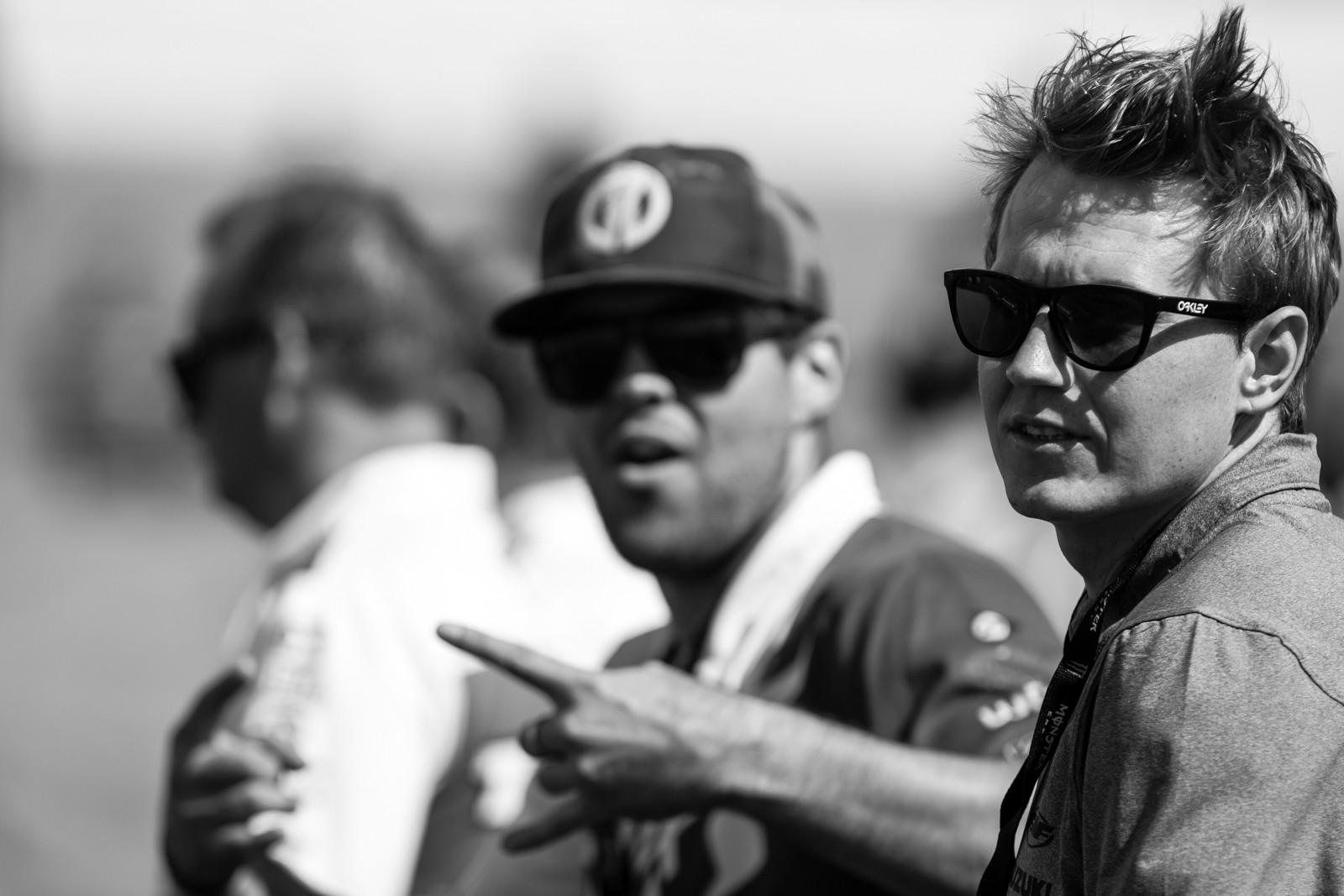 Jimmy Albertson and Adam Enticknap  - Vital MX Pit Bits: Daytona Supercross - Motocross Pictures - Vital MX