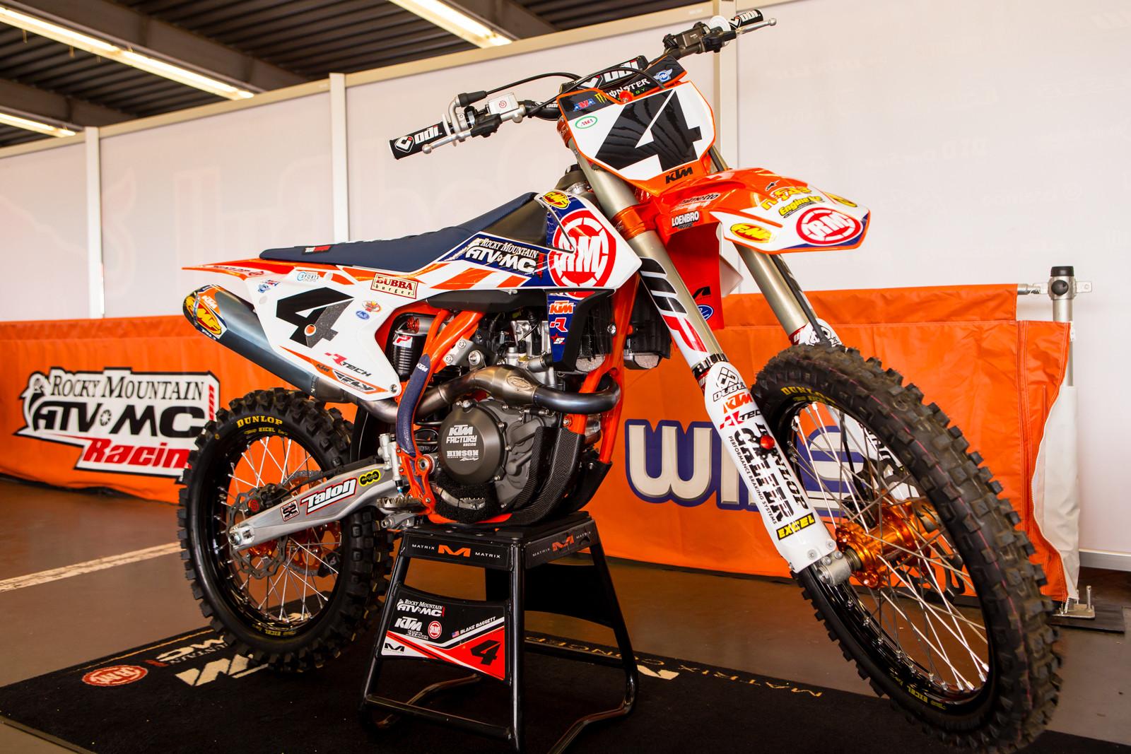 Blake Baggett's Rocky Mountain ATV/MC-KTM-WPS - Vital MX Pit Bits: Daytona Supercross - Motocross Pictures - Vital MX