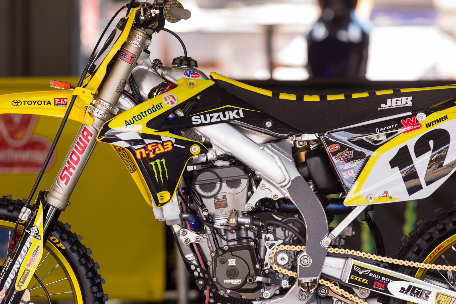 Jake Weimer's JGR Suzuki RM-Z450 - Vital MX Pit Bits: Daytona Supercross - Motocross Pictures - Vital MX