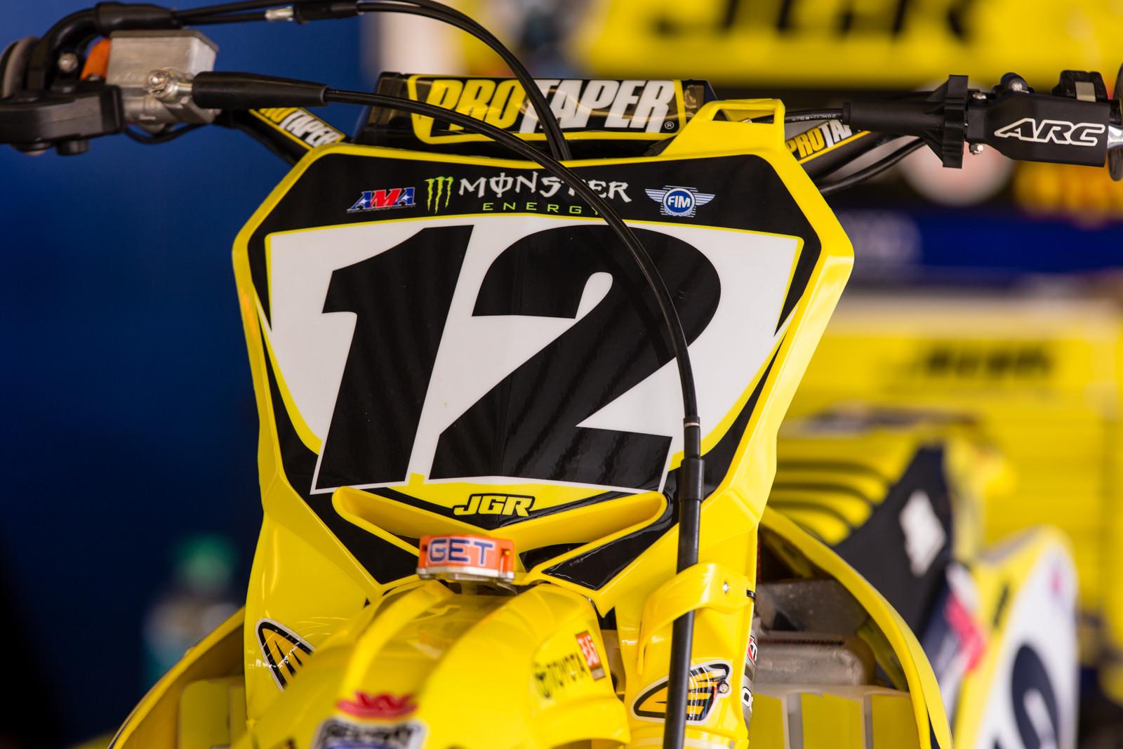 Cycra Stadium Plate RM-Z - Vital MX Pit Bits: Daytona Supercross - Motocross Pictures - Vital MX