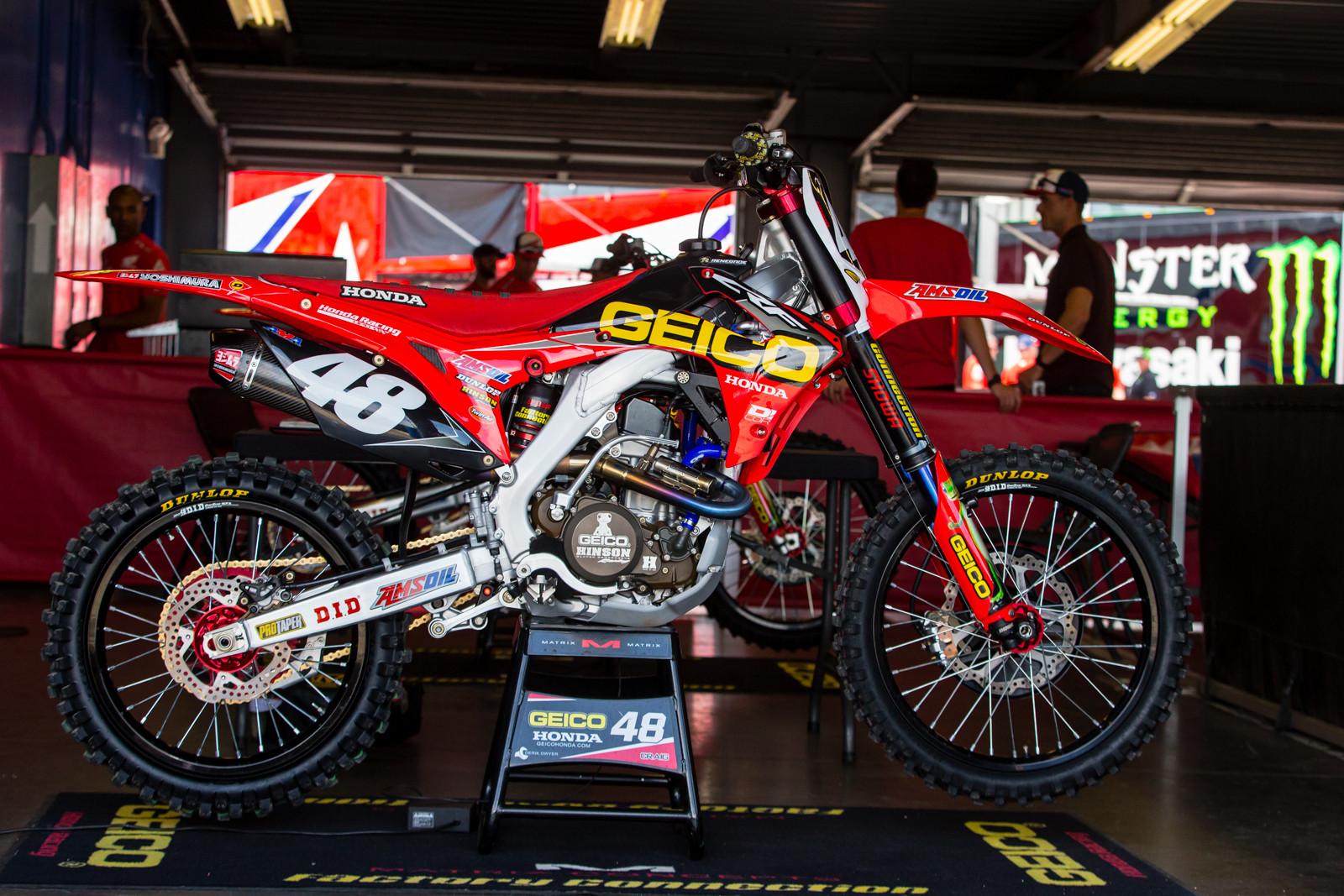 Christian Craig's Geico Honda CRF250R - Vital MX Pit Bits: Daytona Supercross - Motocross Pictures - Vital MX