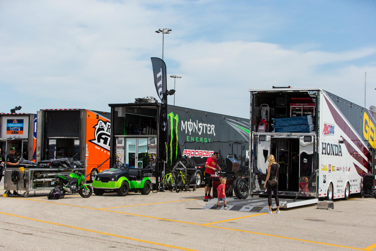 Team Trucks - Vital MX Pit Bits: Daytona Supercross - Motocross Pictures - Vital MX