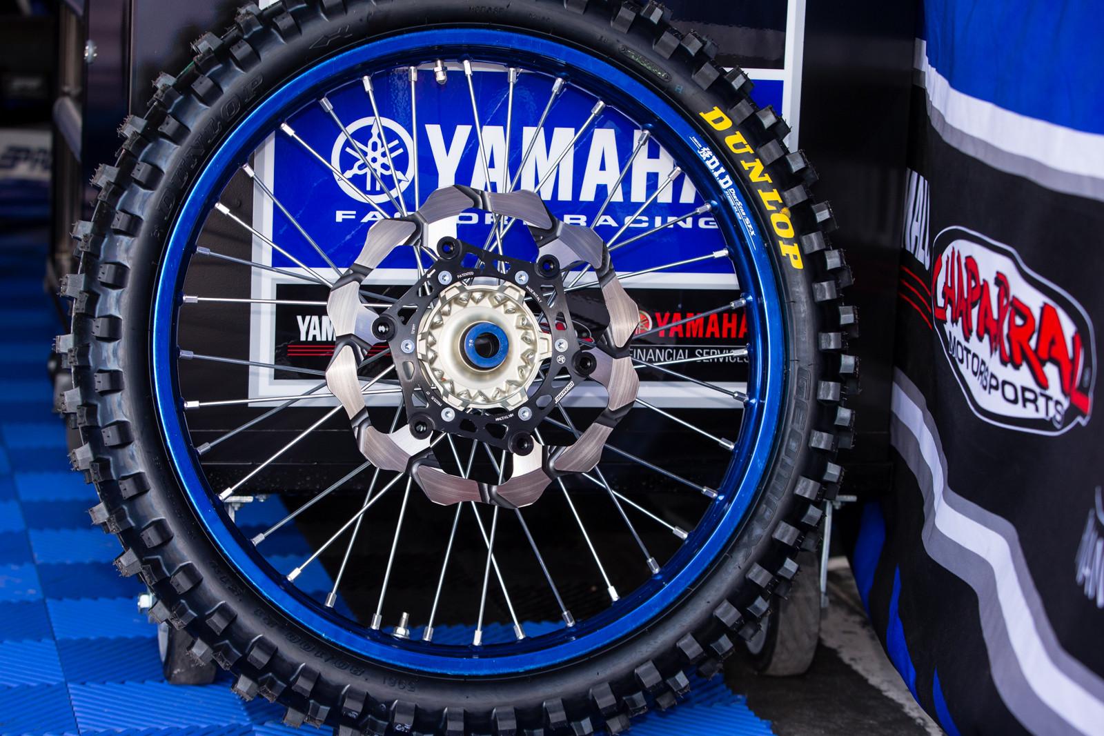 Factory Yamaha Wheel - Vital MX Pit Bits: Daytona Supercross - Motocross Pictures - Vital MX