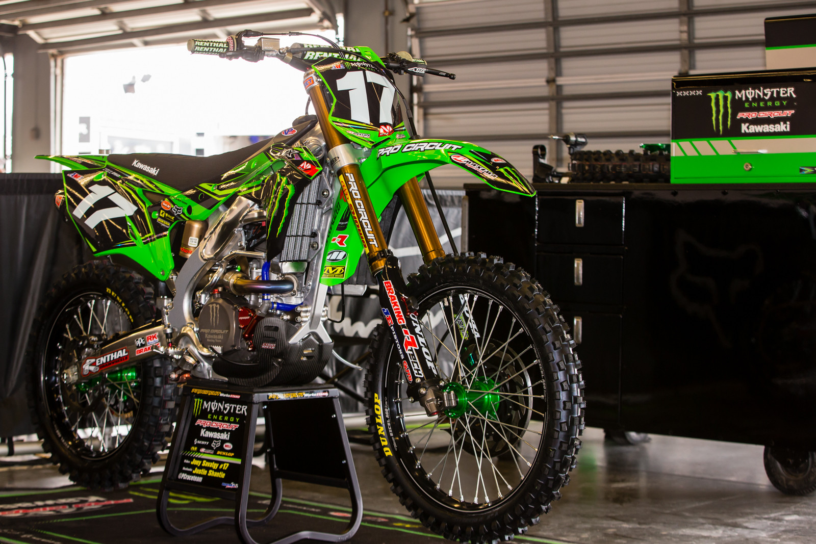 Joey Savatgy's Monster Energy Pro Circuit Kawasaki - Vital MX Pit Bits: Daytona Supercross - Motocross Pictures - Vital MX