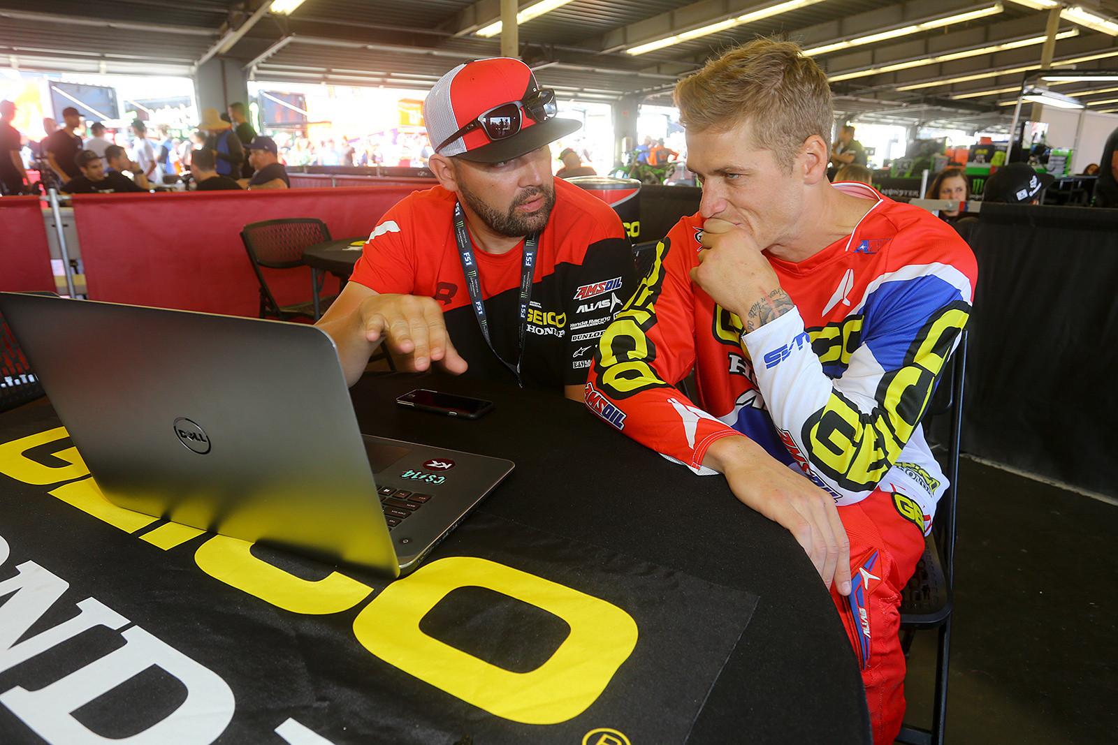 David Vuillemin and Christian Craig - Vital MX Pit Bits: Daytona Supercross - Motocross Pictures - Vital MX