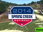 2014 Spring Creek Motocross Track Map