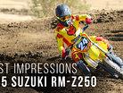 First Impressions: Riding the 2015 Suzuki RM-Z250