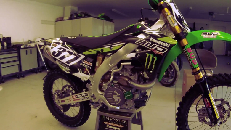Christophe Pourcel - Supercross Testing with Bud Racing
