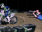 2015 Canadian Arenacross Round 3 & 4 Highlights - Jacob Hayes Cleans Out Cole Thompson