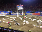 CRASH: Track Worker Runs out in Front of Lead Rider at Arenacross