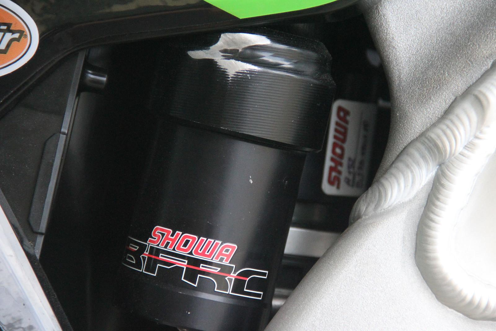 Petrov's Showa BFRC Shock - ayearinmx - Motocross Pictures - Vital MX