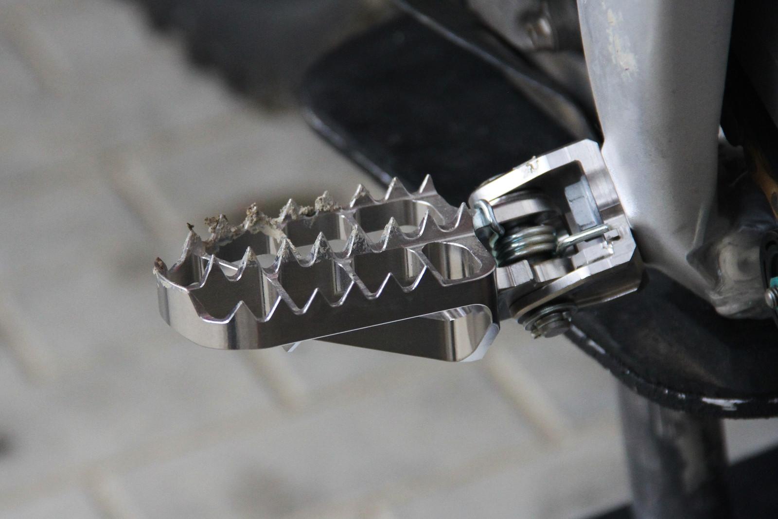 Evgeny Bobryshev's HRC Honda Titanium Footpeg - ayearinmx - Motocross Pictures - Vital MX