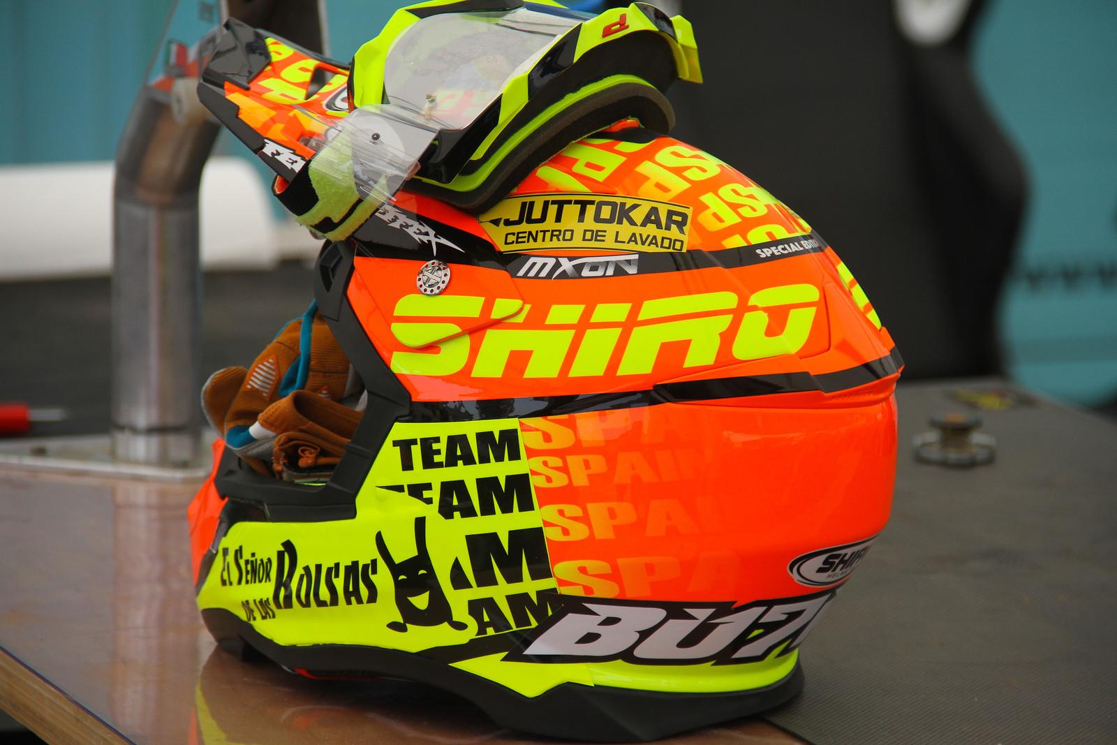 Jose Butron's Shiro Helmet - ayearinmx - Motocross Pictures - Vital MX