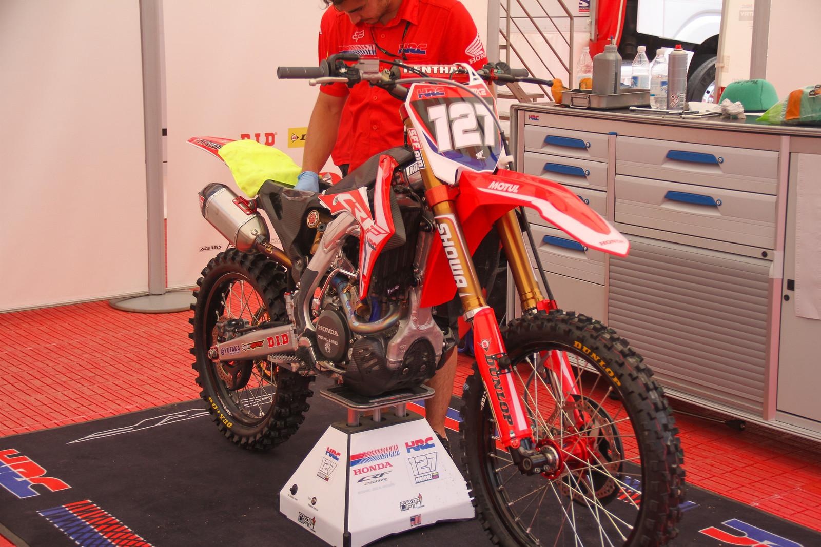 Anthony Rodriguez HRC CRF250R MX2 - ayearinmx - Motocross Pictures - Vital MX