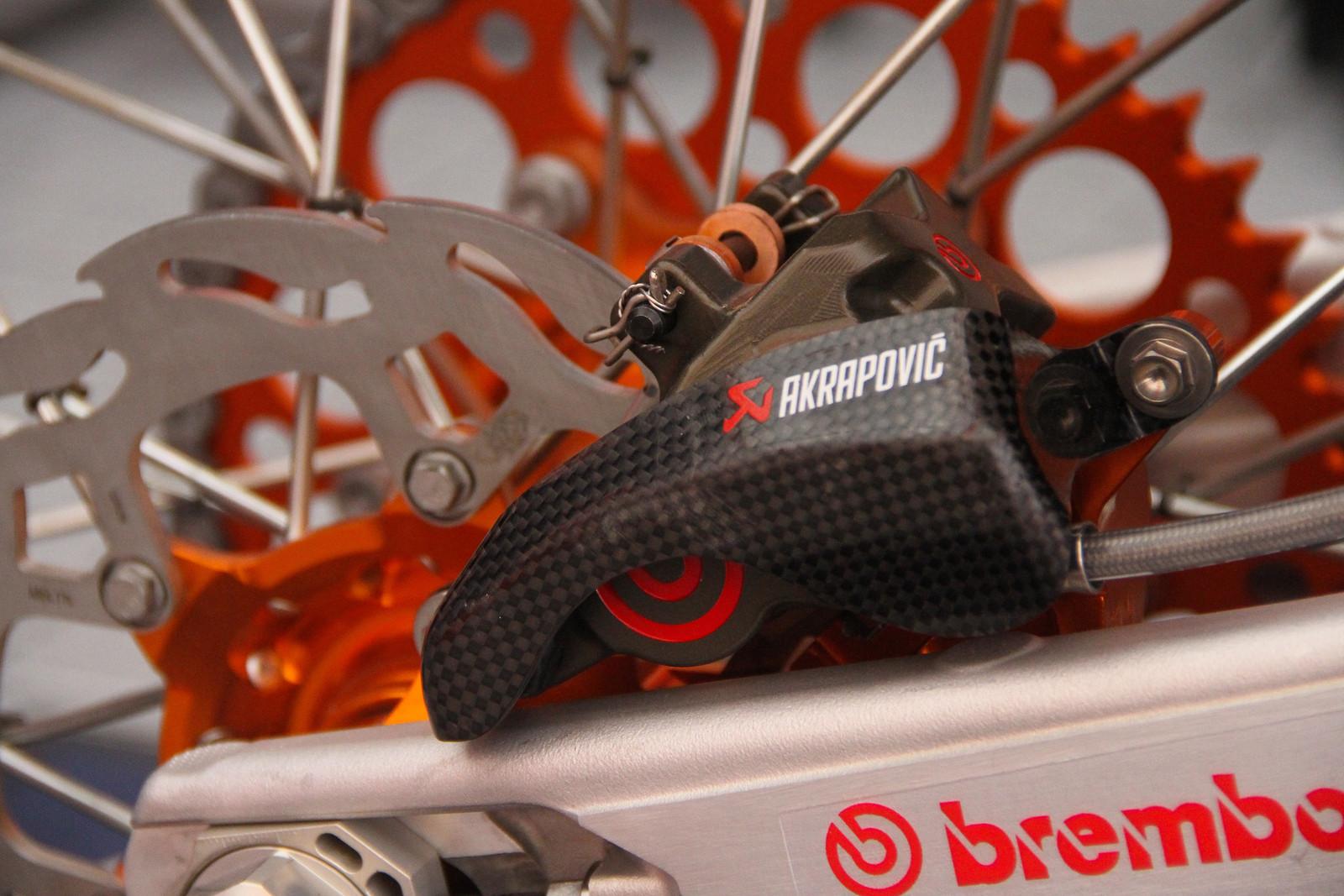 KTM Rear Brake Carbon-Fiber - ayearinmx - Motocross Pictures - Vital MX
