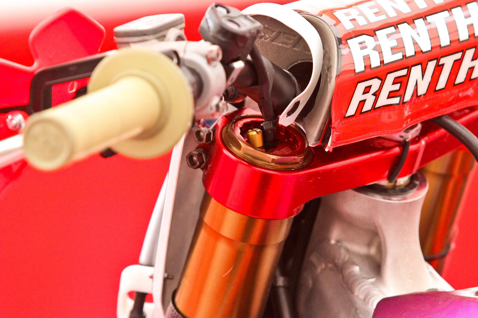Tim Gajser's HRC Honda CR450F - SFF TAC Forks - ayearinmx - Motocross Pictures - Vital MX
