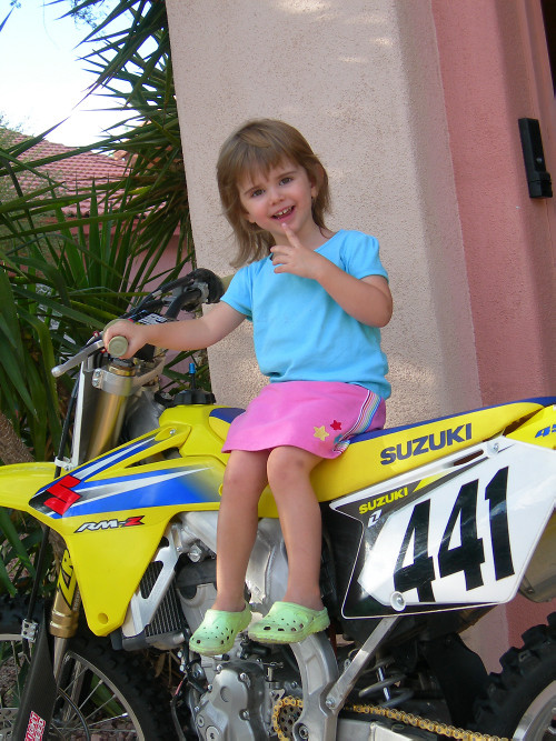 Kyla on my ride - PD441 - Motocross Pictures - Vital MX