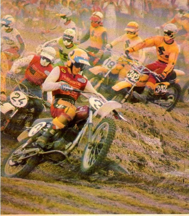 Kent Howerton and Brad Lackey in 1976 - Stoneface - Motocross Pictures - Vital MX
