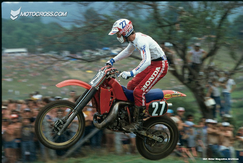 Here, Baily aboard a pre-disc brake Works Honda  The year should be 1983 and the race should be the 250cc USGP that took place at Unadilla in New York  - Stoneface - Motocross Pictures - Vital MX