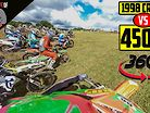 Crazy CR500 Race vs 450's like You've Never Seen Before!