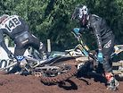 Incredible 125cc Motocross Comeback after First Turn CRASH!