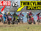 Racing a Crazy TWIN CYLINDER Dirt Bike vs CR500 2 Strokes! | One of a Kind Ride