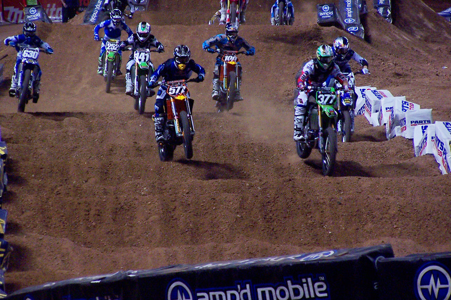 Pourcel Leading Phoenix Lites Main - AZ450Rider - Motocross Pictures - Vital MX