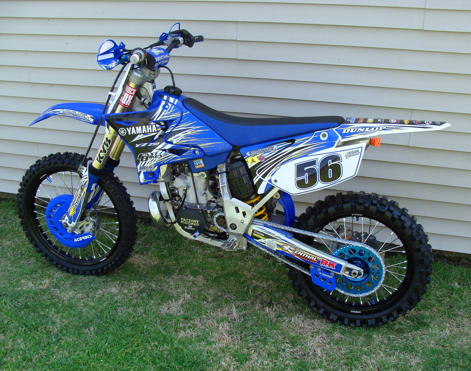 2005 YZ250 with restyled plastic and DeCalWorks Graphics