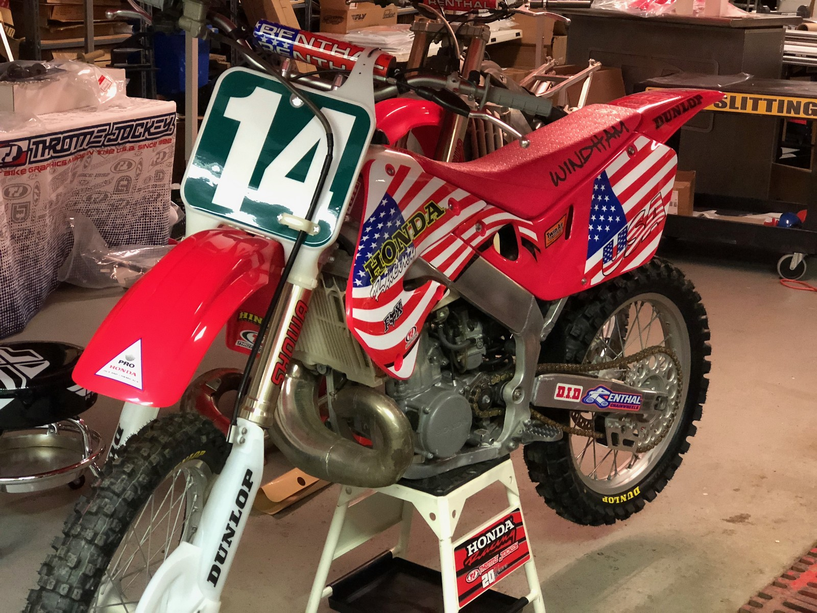 The bike got a makeover for the MXdN