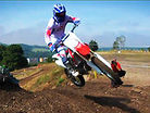 Jean-Michael Bayle riding the new Honda CRF250R