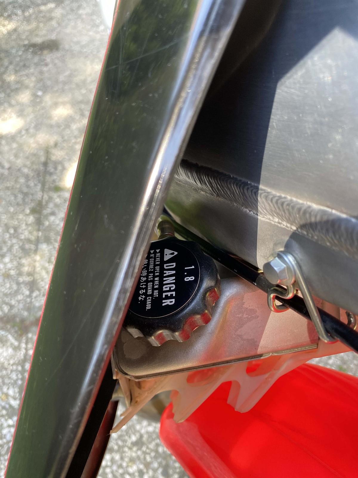Cap Radiator HRC - Debegio - Motocross Pictures - Vital MX