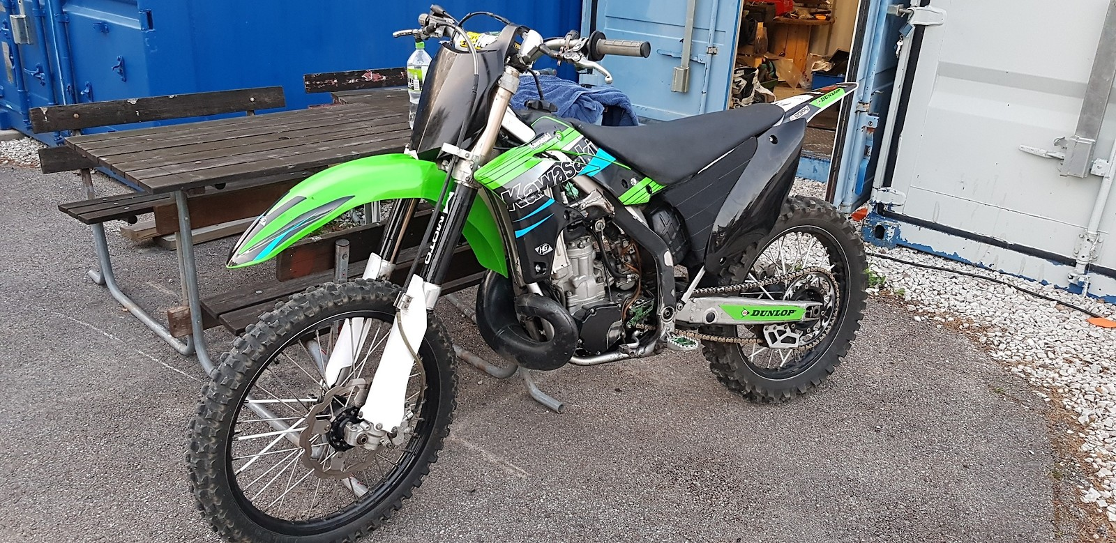 My brothers old kx. Did buy it from him and gonna get clean up and ready to rip.