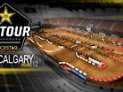2018 Calgary Canadian Arenacross: Animated Track Map