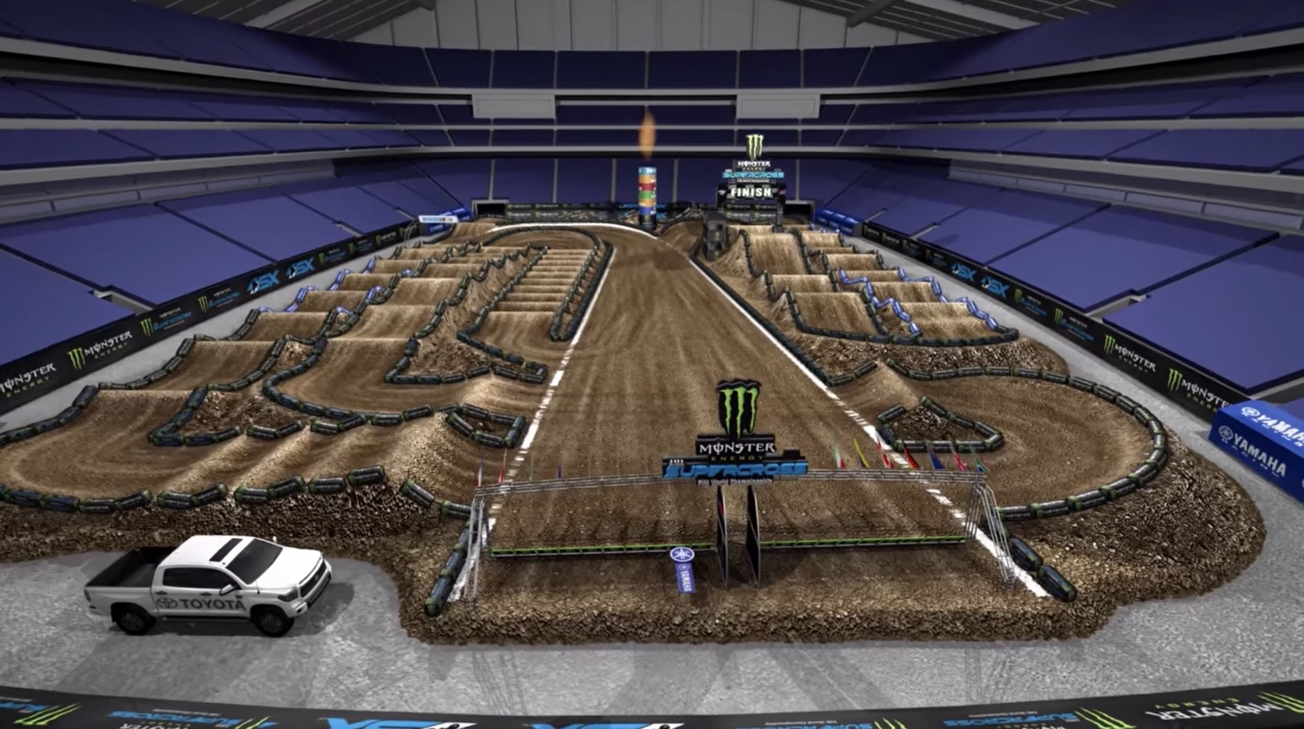 2019 Minneapolis Supercross - Animated Track Map