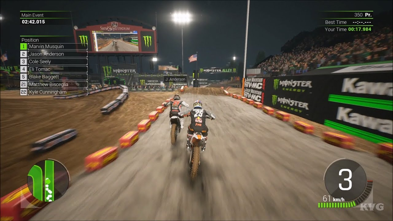 Monster Energy Supercross: The Official Video Game 2 - Las Vegas Gameplay