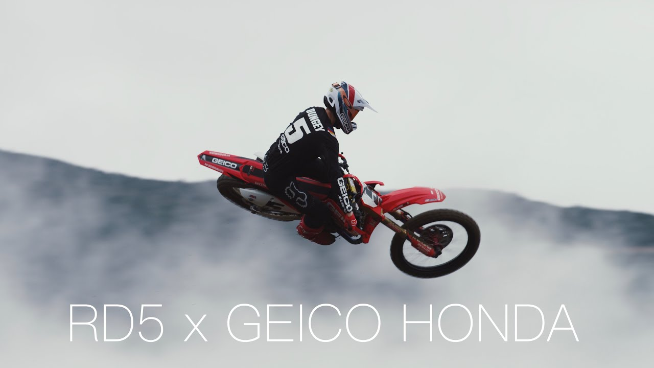Ryan Dungey's First Ride on a GEICO Honda
