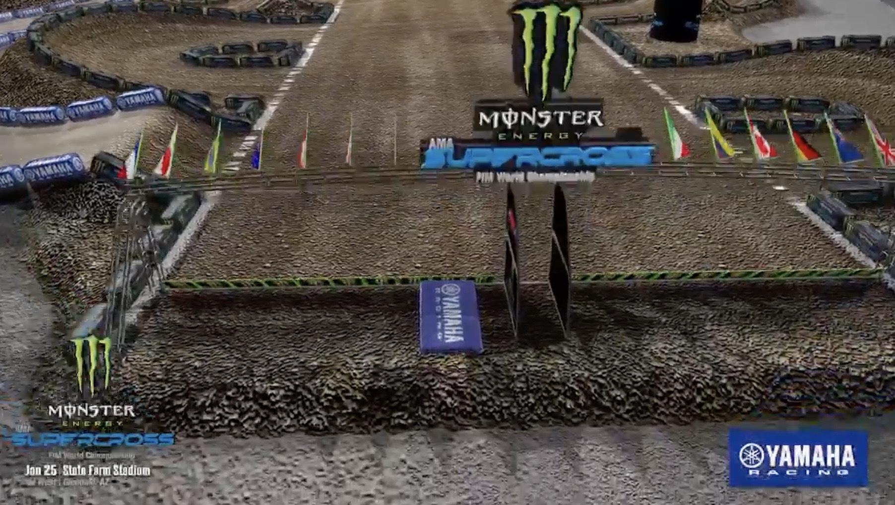 2020 Glendale Supercross - Animated Track Map