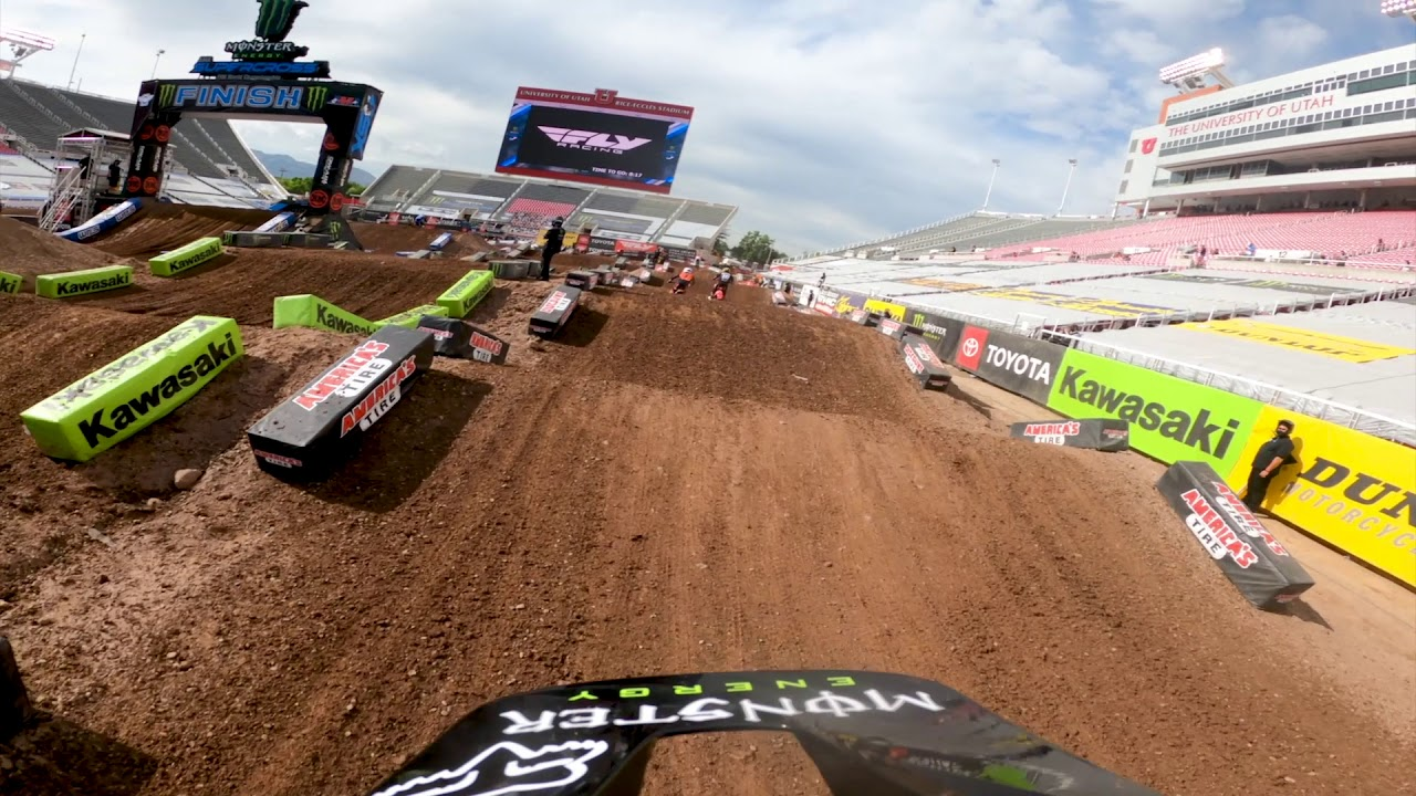 Onboard: Adam Cianciarulo - 2020 Salt Lake City 1 Supercross Track Preview