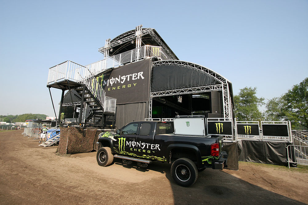Monster Energy party place. - Valkenswaard GP Pit Bits  - Motocross Pictures - Vital MX