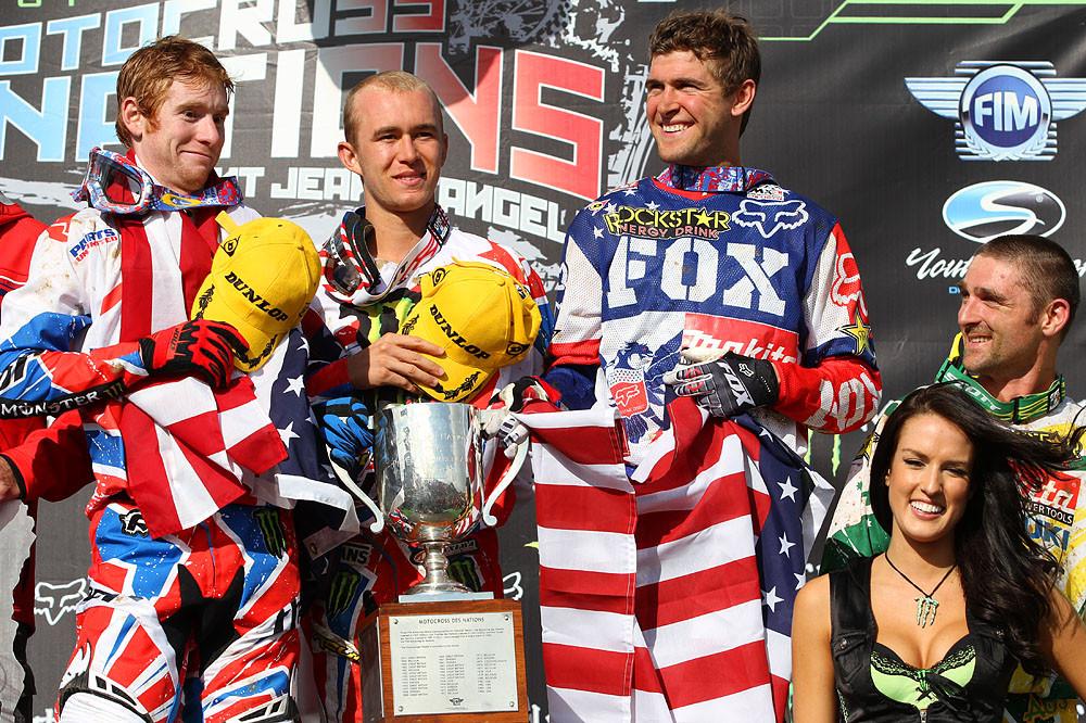 MXoN 2011 Podium - MXoN Podium pictures - Motocross Pictures - Vital MX