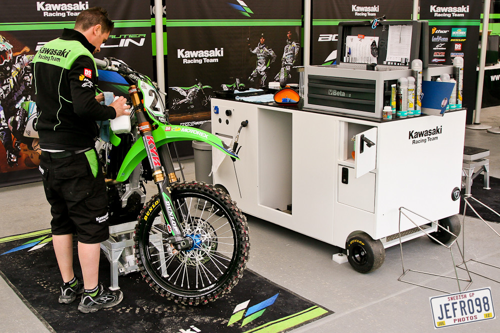 Team Kawasaki - Swedish GP, Saturday pitbits - Motocross Pictures - Vital MX