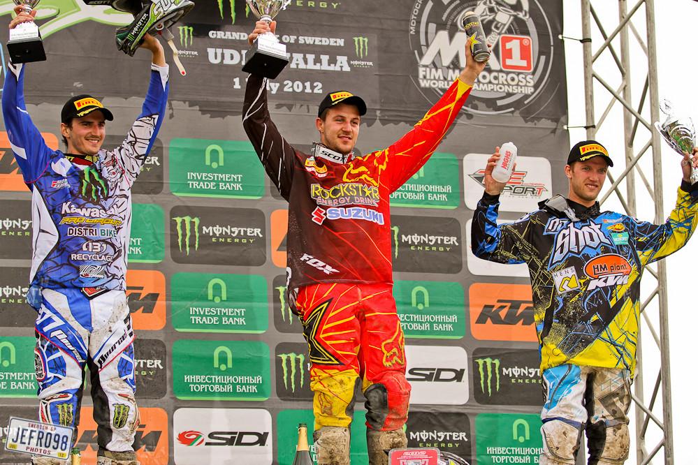 MX1 Podium - Swedish GP, Sunday racing - Motocross Pictures - Vital MX