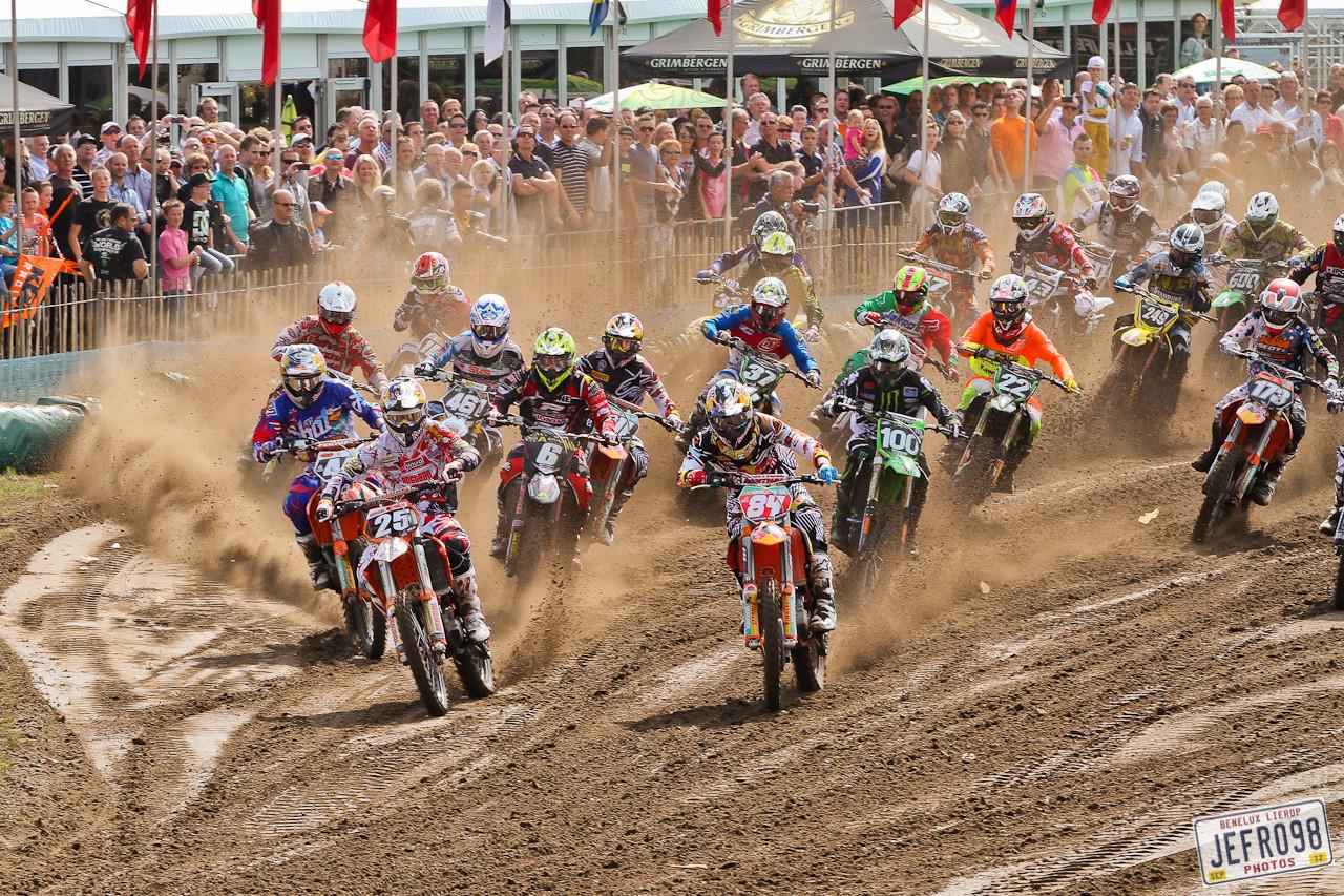 MX2 moto1 start - Benelux /Lierop GP Sunday Racing - Motocross Pictures - Vital MX