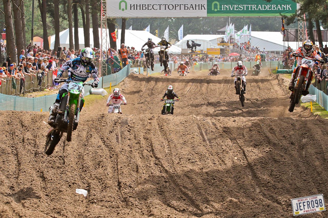 MX1 Moto1 start - Benelux /Lierop GP Sunday Racing - Motocross Pictures - Vital MX