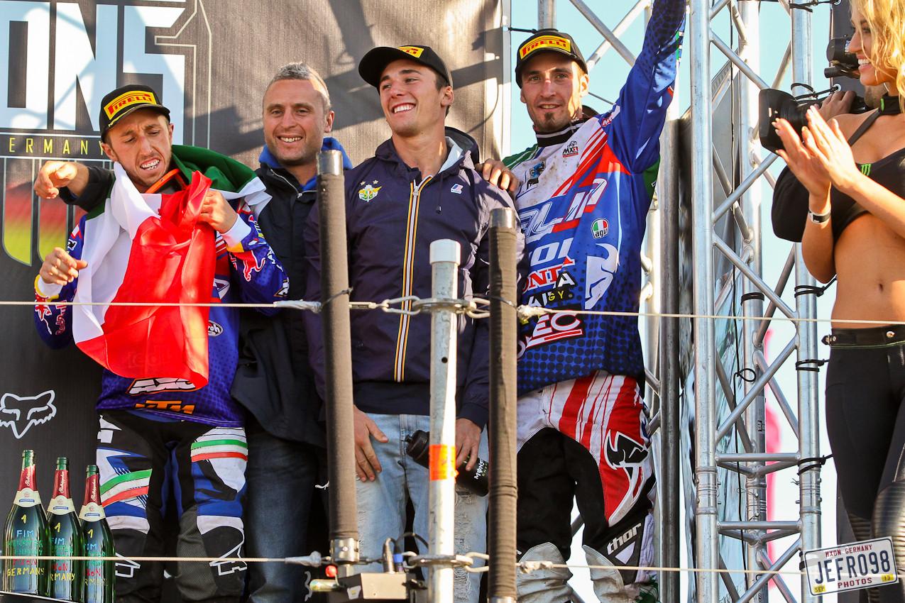 Team Italy - MXoN Podium Photos - Motocross Pictures - Vital MX