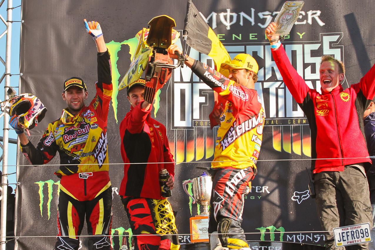 Team Belgium - MXoN Podium Photos - Motocross Pictures - Vital MX