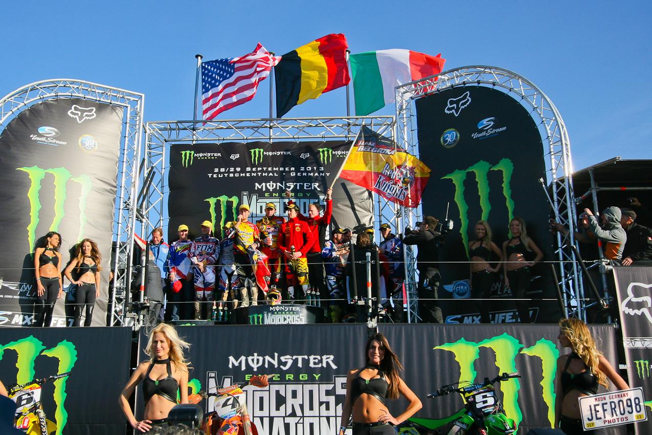 MXoN 2013 Podium - MXoN Podium Photos - Motocross Pictures - Vital MX